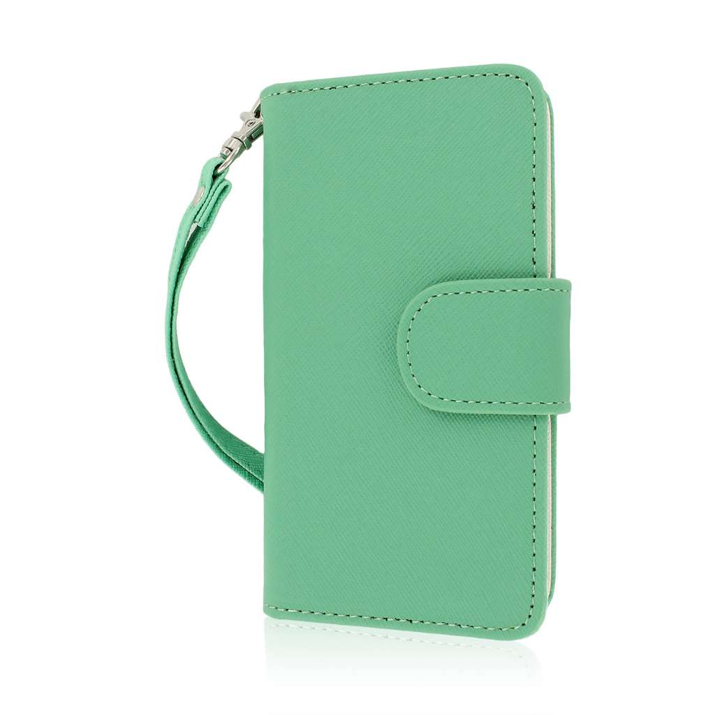 Huawei Valiant - Mint MPERO FLEX FLIP Wallet Case Cover