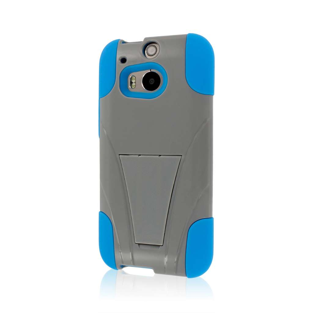 HTC One M8 - Blue/ Gray MPERO IMPACT X - Kickstand Case Cover