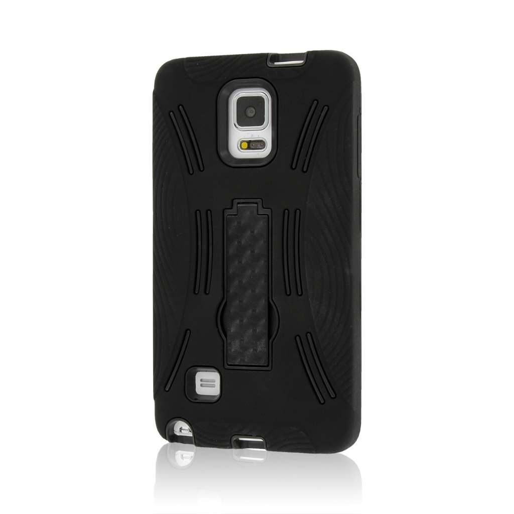 Samsung Galaxy Note 4 - Black MPERO IMPACT XL - Kickstand Case Cover