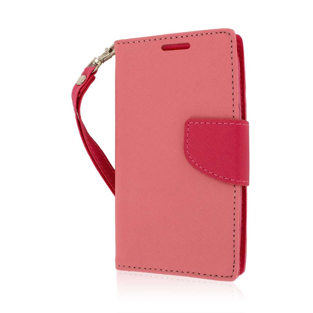 Kyocera Hydro Icon - Pink MPERO FLEX FLIP 2 Wallet Stand Case Cover