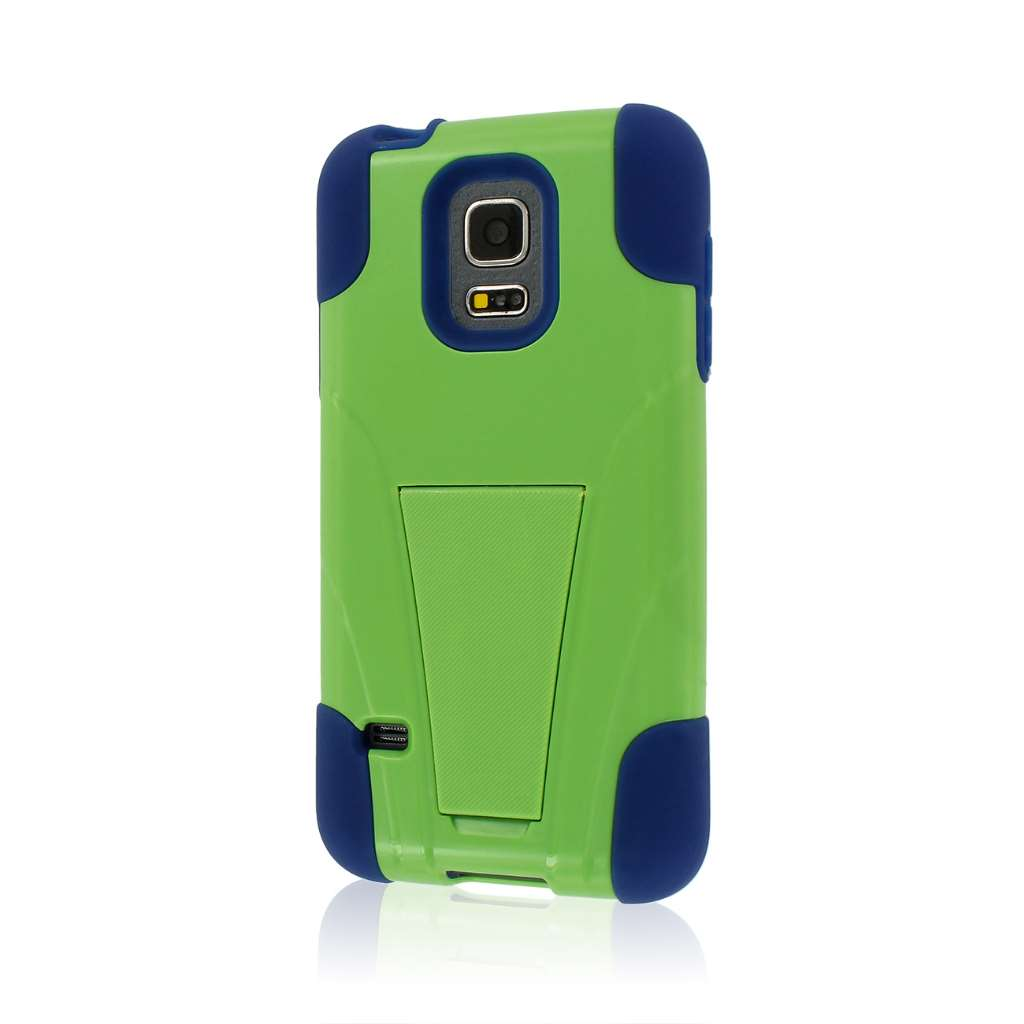 Samsung Galaxy S5 Mini - Blue / Green MPERO IMPACT X - Kickstand Case Cover