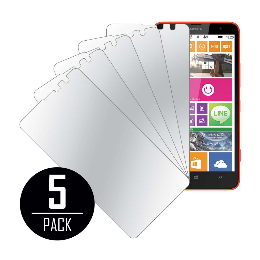 Nokia Lumia 1320 MPERO 5 Pack of Mirror Screen Protectors