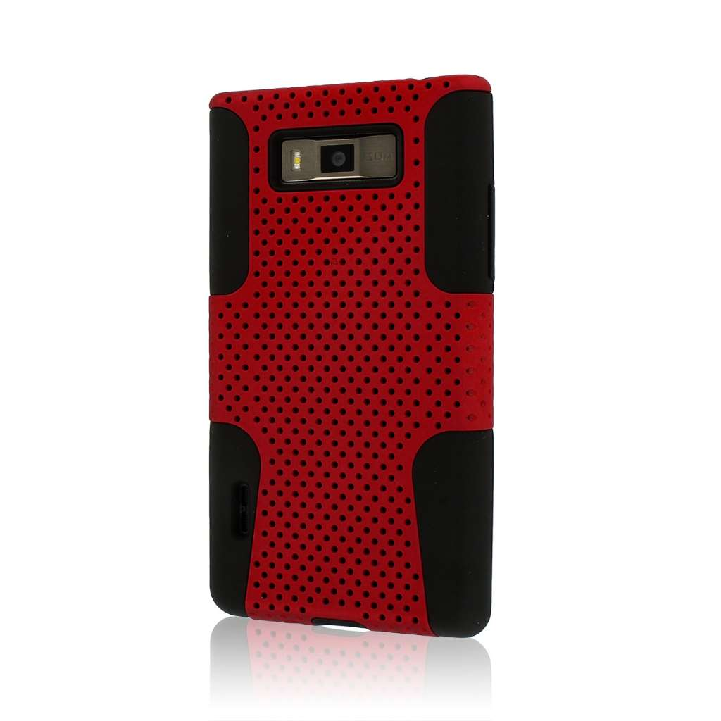 LG Venice / Splendor US730 - Burgundy Red MPERO FUSION M - Protective Case