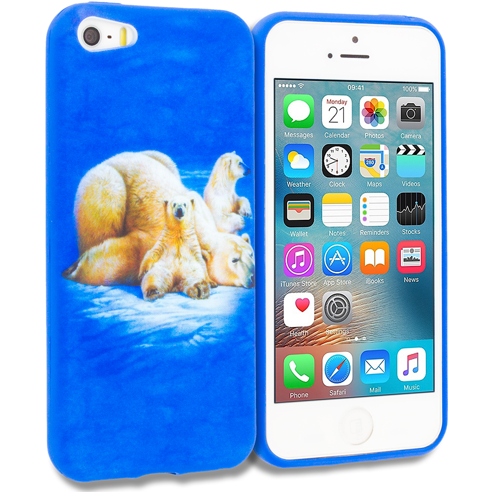 Apple iPhone 5/5S/SE Polar Bear TPU Design Soft Rubber Case Cover