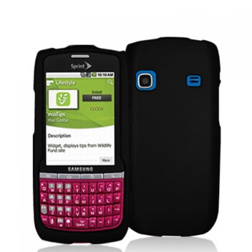 Samsung Replenish M580 Black Hard Rubberized Case Cover