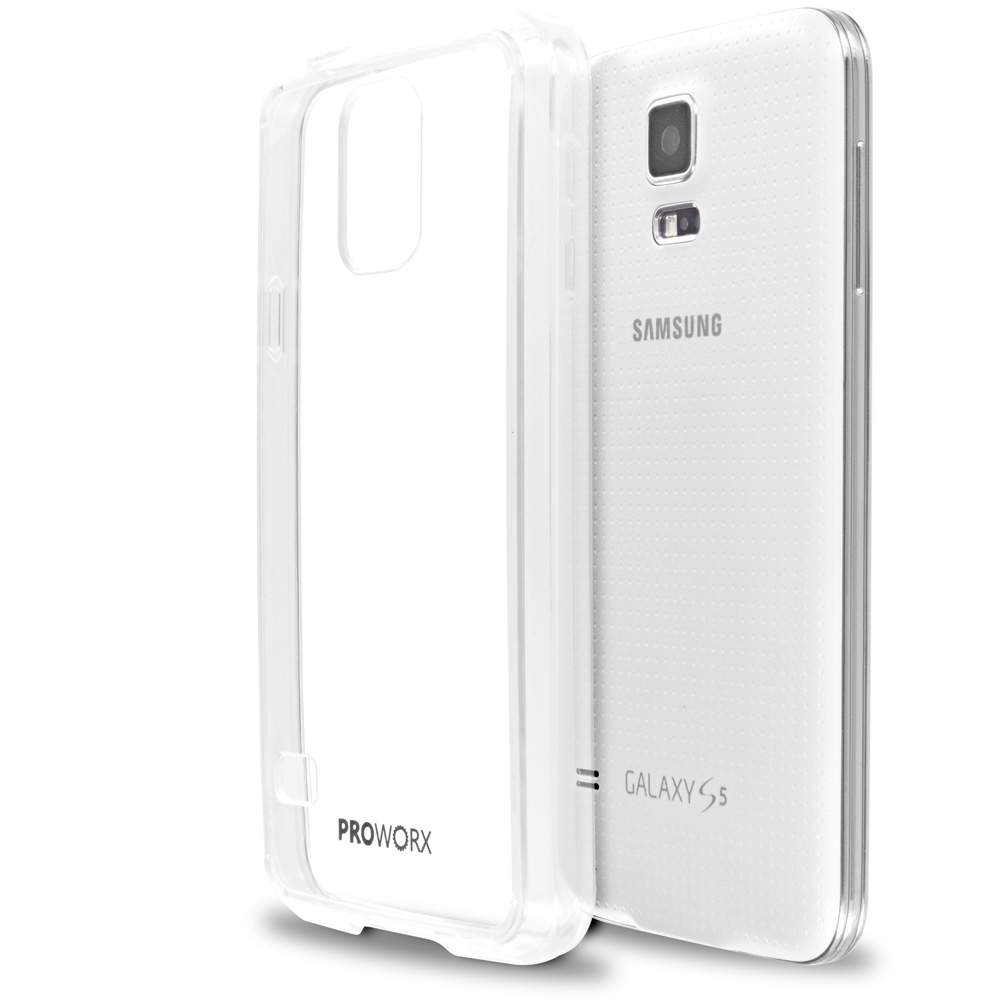 Samsung Galaxy S5 Clear ProWorx Shock Absorption Case Bumper TPU & Anti-Scratch Clear Back Cover