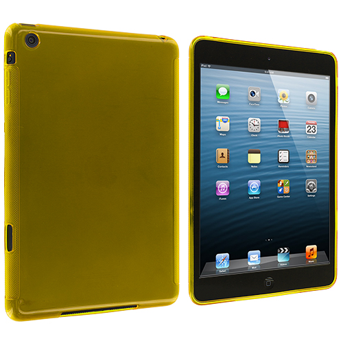 Apple iPad Mini Yellow Plain TPU Rubber Skin Case Cover