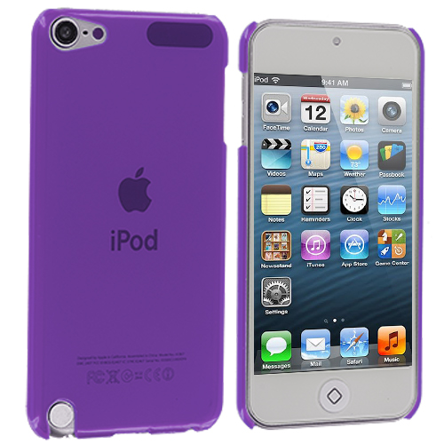 Apple iPod Touch 5th 6th Generation Purple Crystal Hard Back Cover Case