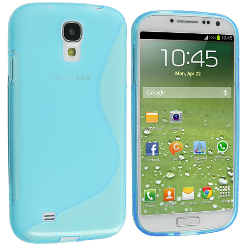 Samsung Galaxy S4 Baby Blue S-Line TPU Rubber Skin Case Cover