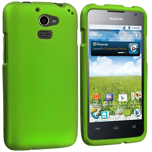 Huawei Premia 4G Neon Green Hard Rubberized Case Cover