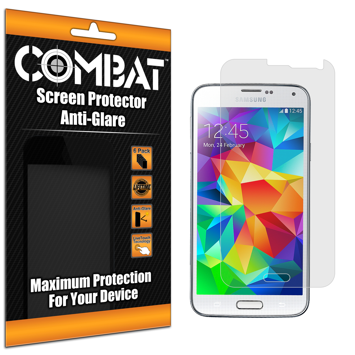 Samsung Galaxy S5 Combat 6 Pack Anti-Glare Matte Screen Protector