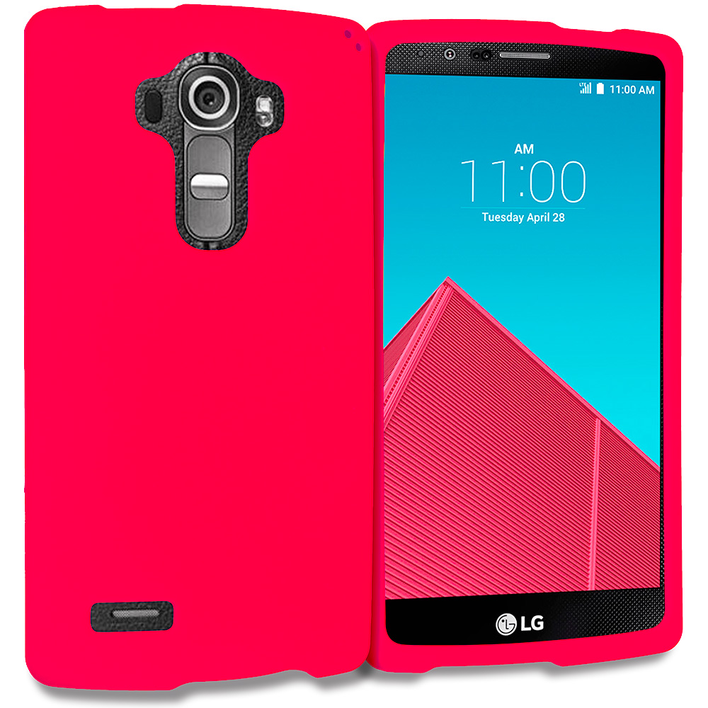 LG G4 Red Hard Rubberized Case Cover