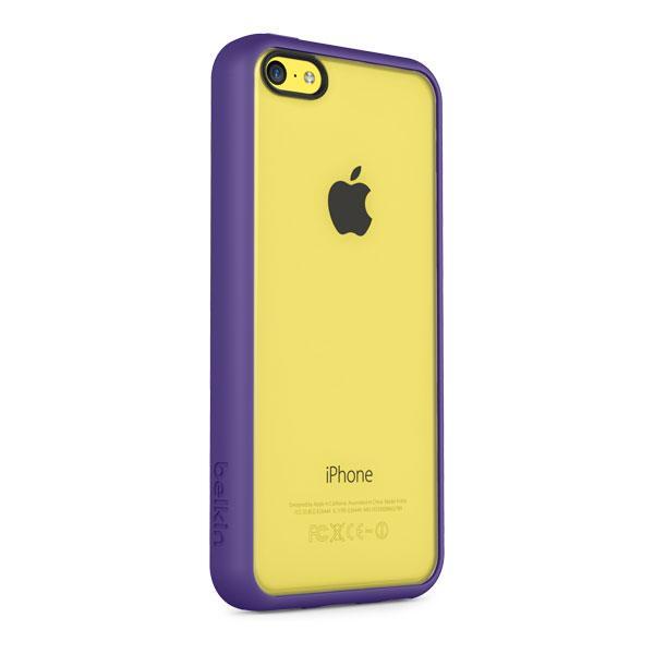 iPhone 5C - Clear/Purple Belkin View Case
