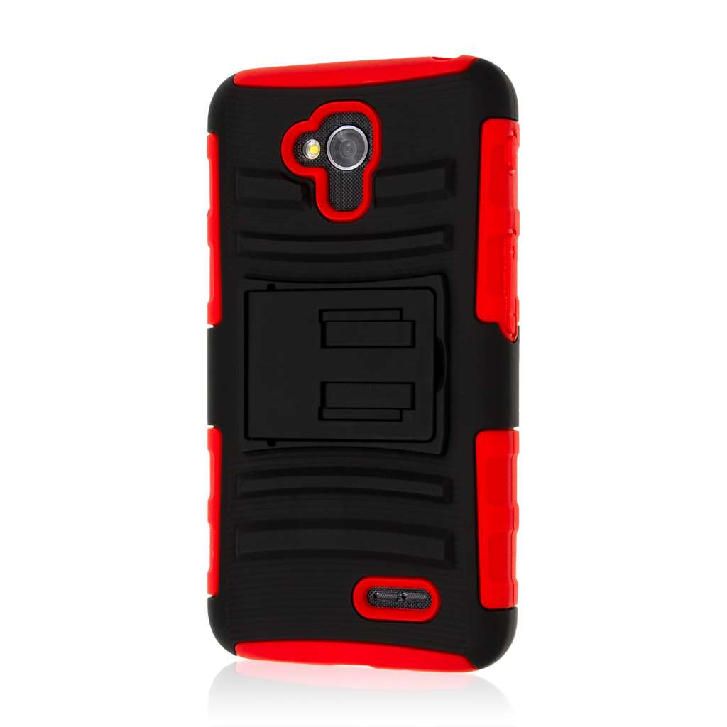 LG Optimus L70 - Red MPERO IMPACT XT - Kickstand Case Cover