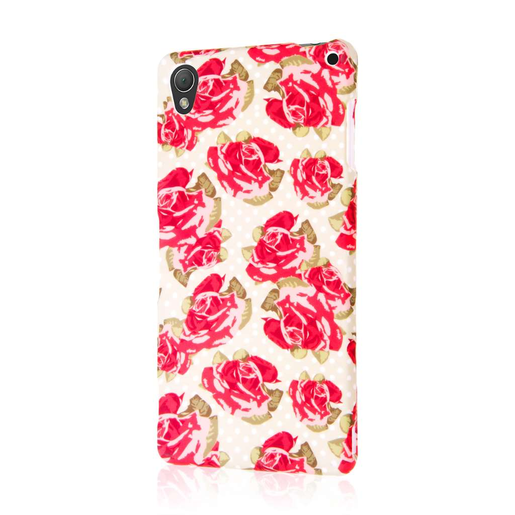 Sony Xperia Z3 - Vintage Red Roses MPERO SNAPZ - Case Cover