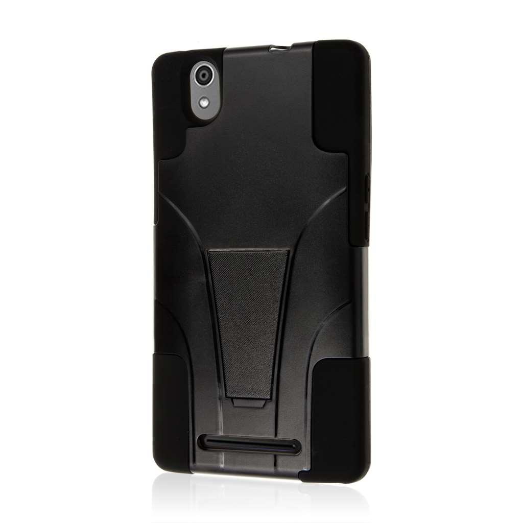 ZTE ZMAX - Black MPERO IMPACT X - Kickstand Case Cover