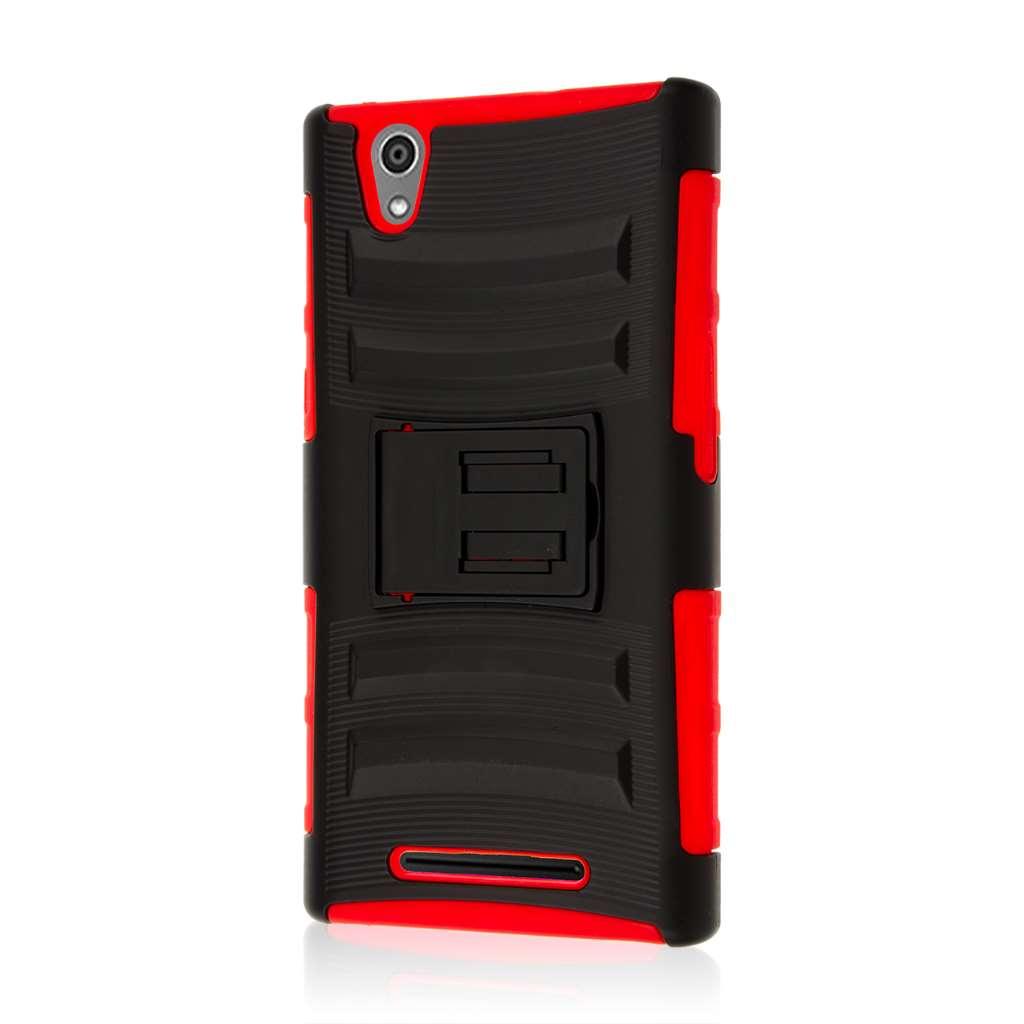 ZTE ZMAX - Red MPERO IMPACT XT - Kickstand Case Cover
