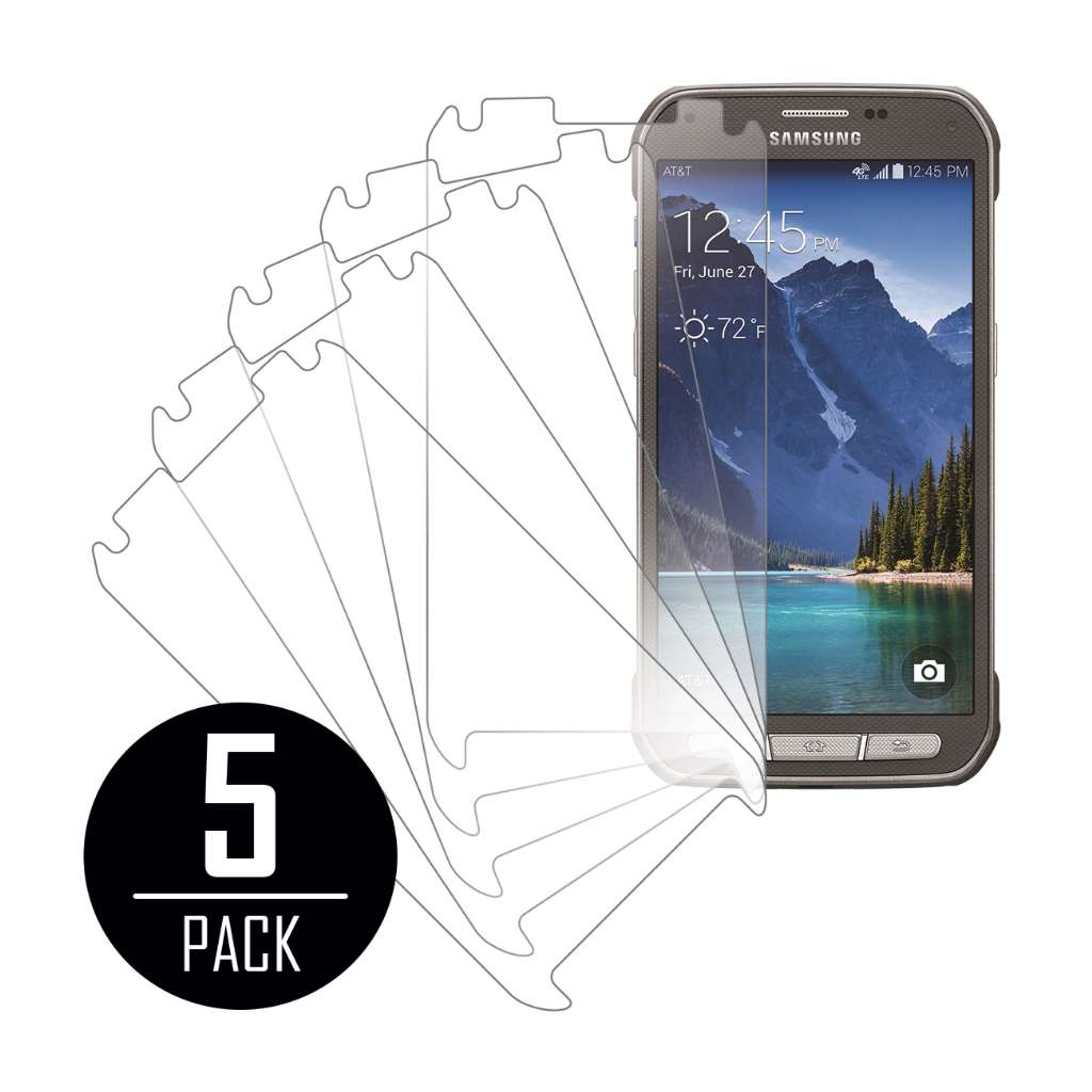 Samsung Galaxy S5 Active MPERO 5 Pack of Clear Screen Protectors