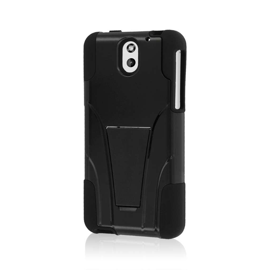 HTC Desire 610 - Black MPERO IMPACT X - Kickstand Case Cover