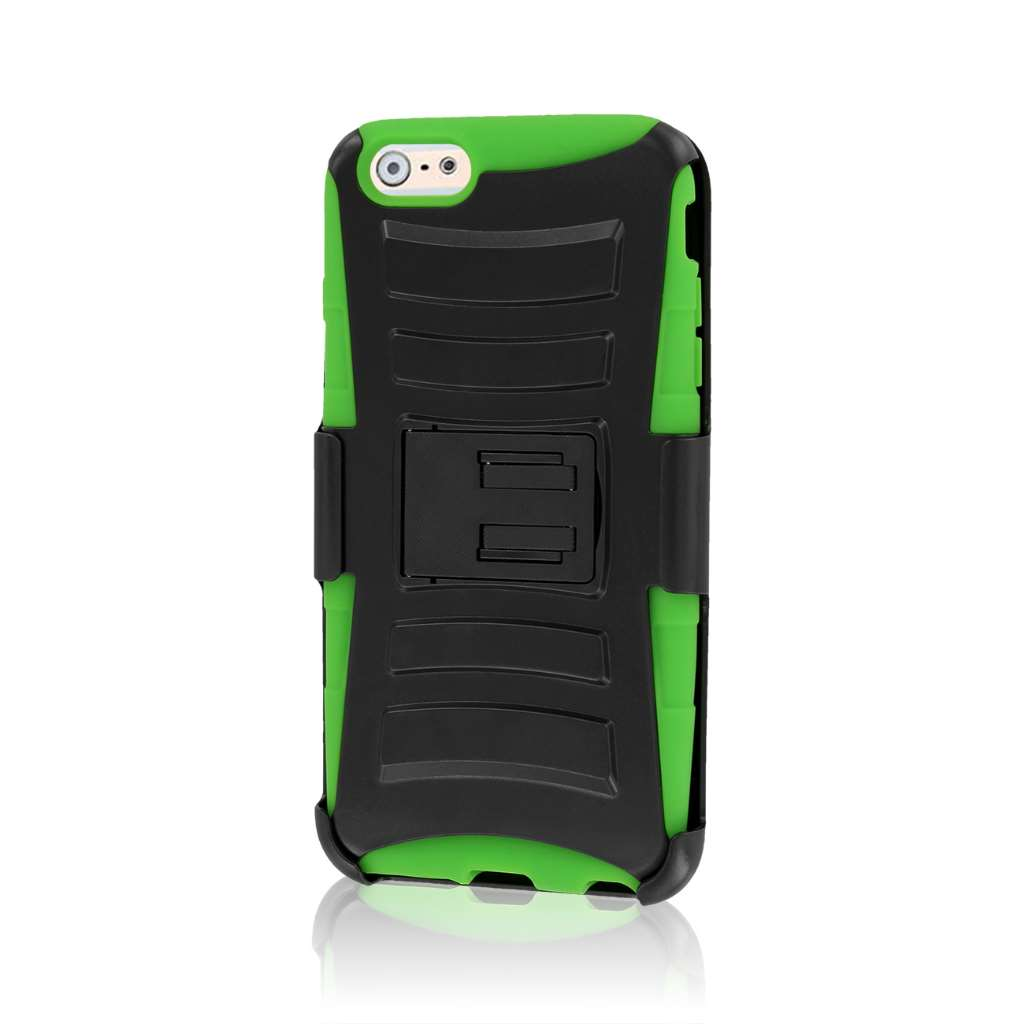 Apple iPhone 6 6S Plus - Neon Green MPERO IMPACT XT - Kickstand Case Cover