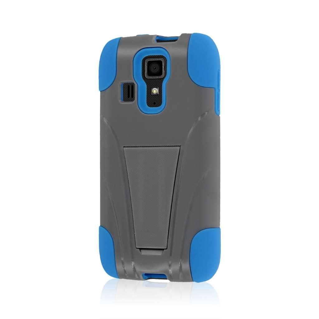 Kyocera Hydro Icon - Blue / Gray MPERO IMPACT X - Kickstand Case Cover