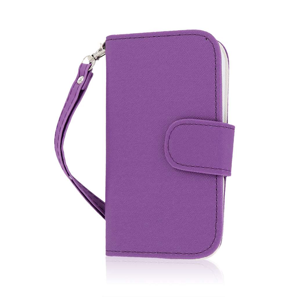 HTC One SV - Purple MPERO FLEX FLIP Wallet Case Cover