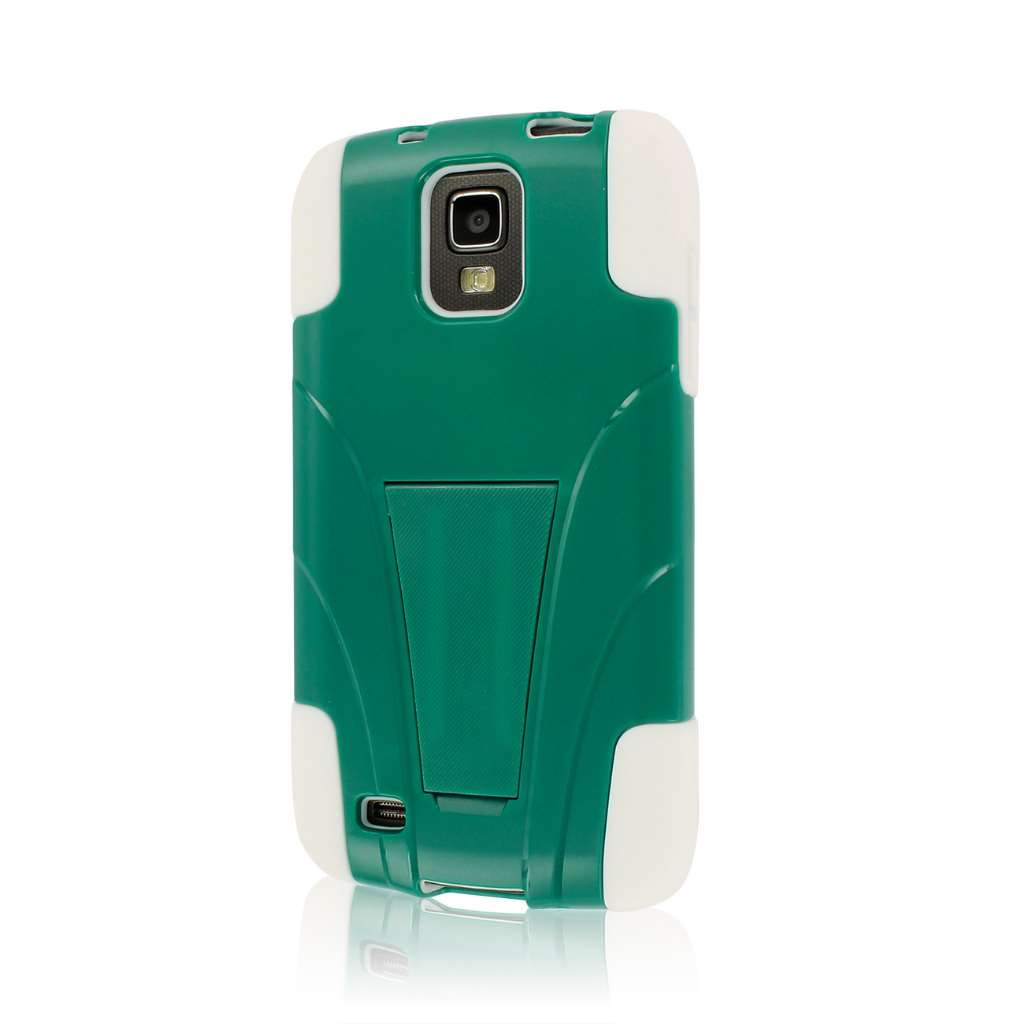 Samsung Galaxy S4 Active - Teal Green / White MPERO IMPACT X - Stand Case