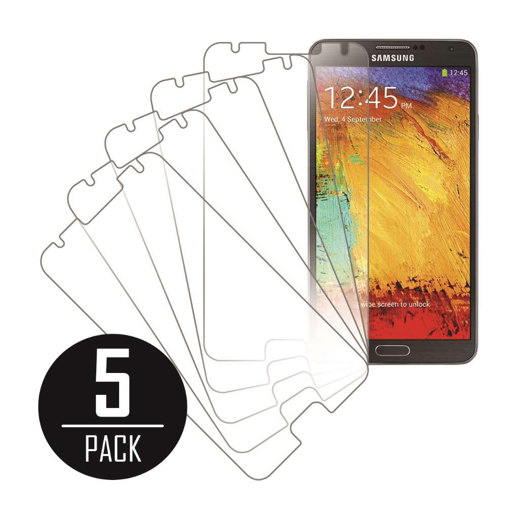 Samsung Galaxy Note 3 MPERO 5 Pack of Clear Screen Protectors