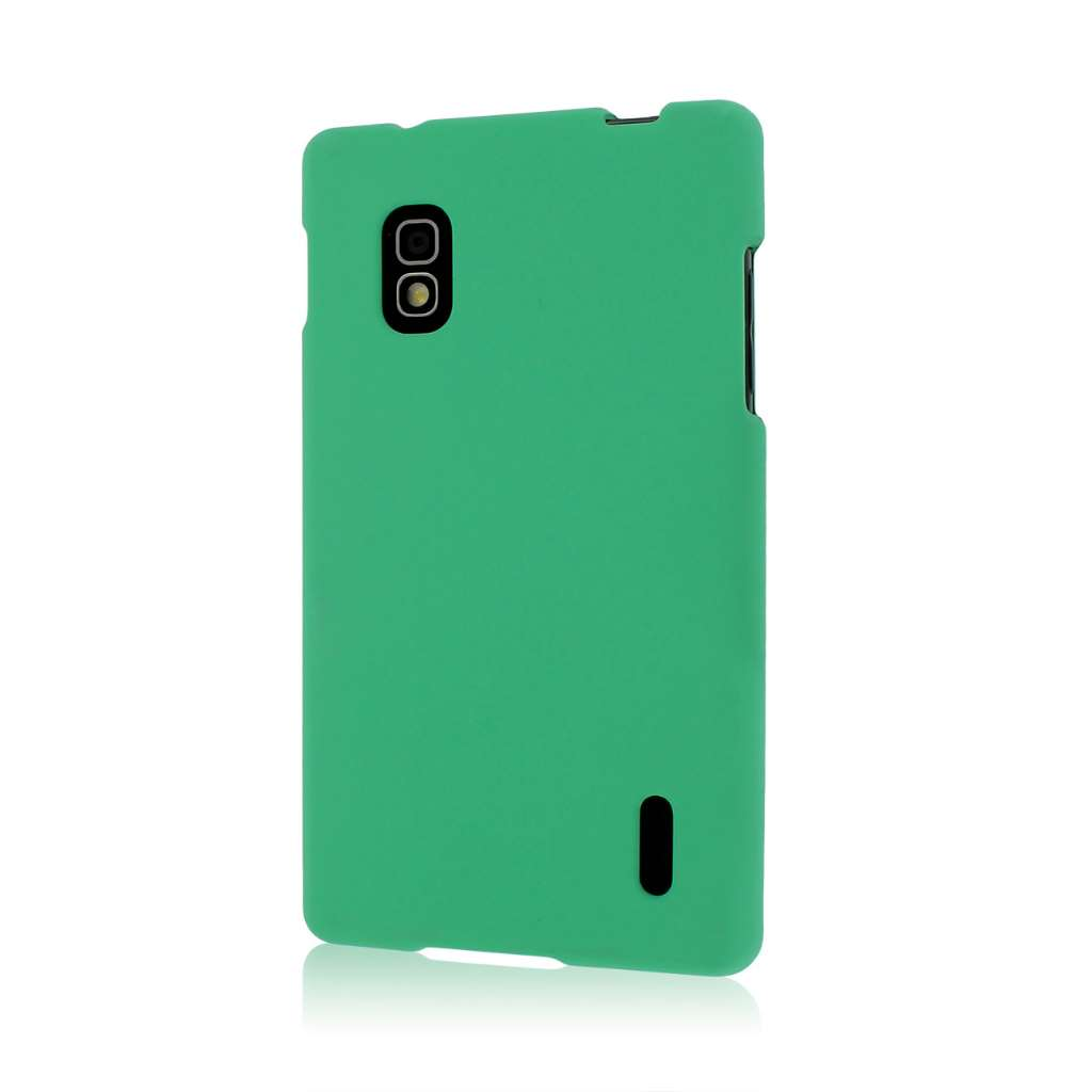 AT&T LG Optimus G - Mint Green MPERO SNAPZ - Rubberized Case Cover