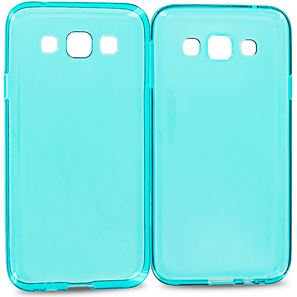Samsung Galaxy E5 S978L Baby Blue TPU Rubber Skin Case Cover