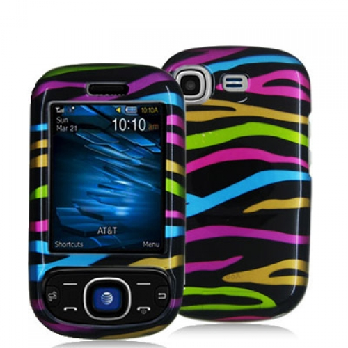 Samsung Strive A687 Rainbow Zebra on Black Design Crystal Hard Case Cover