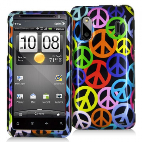 HTC EVO Design 4G Peace Sign Design Crystal Hard Case Cover