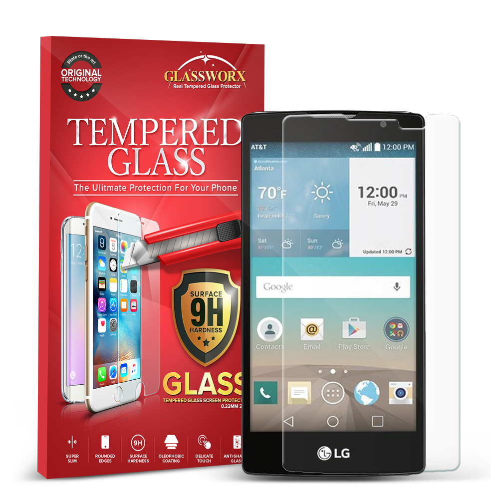 LG Escape 2 Logos Spirit LTE GlassWorX HD Clear Tempered Glass Screen Protector