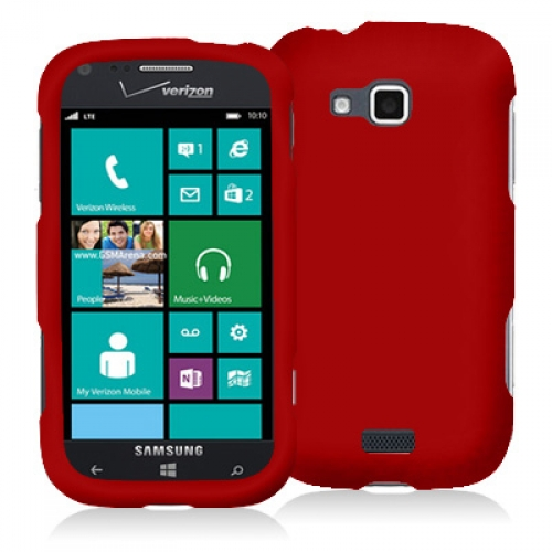 Samsung ATIV Odyssey Red Hard Rubberized Case Cover