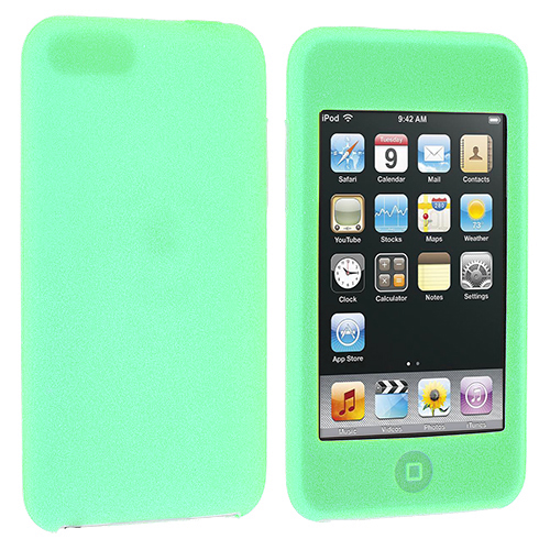 Apple iPod Touch 3rd 2nd Generation Mint Green Silicone Soft Skin Case Cover