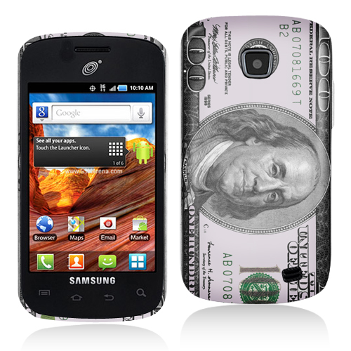 Samsung Proclaim S720C Hundred Dollars Hard Rubberized Design Case Cover