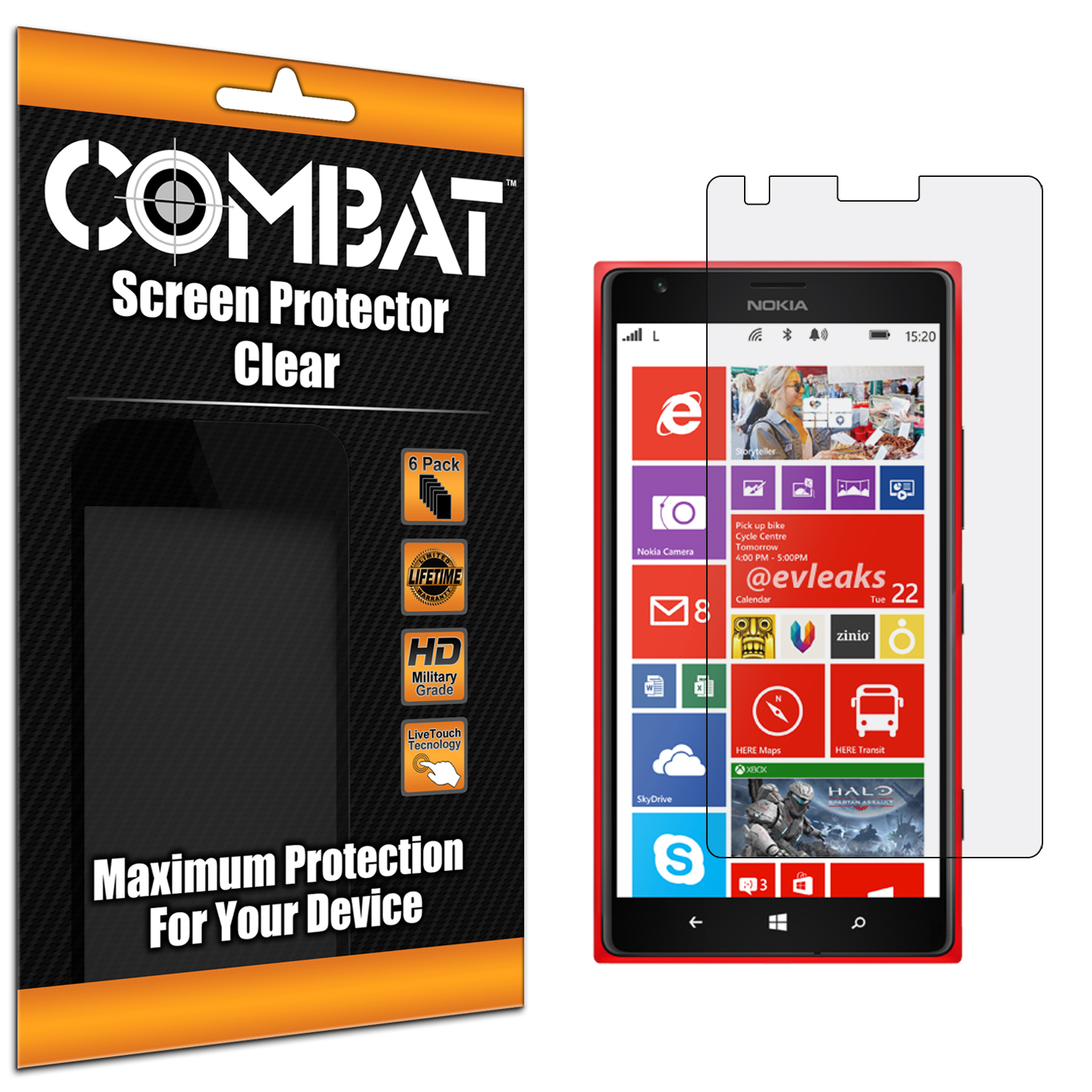 Nokia Lumia 1520 Combat 6 Pack HD Clear Screen Protector