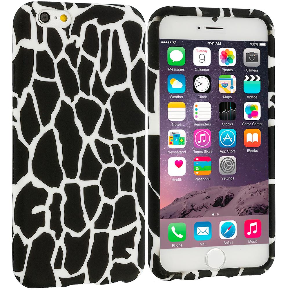 Apple iPhone 6 Plus 6S Plus (5.5) Black Giraffe TPU Design Soft Rubber Case Cover