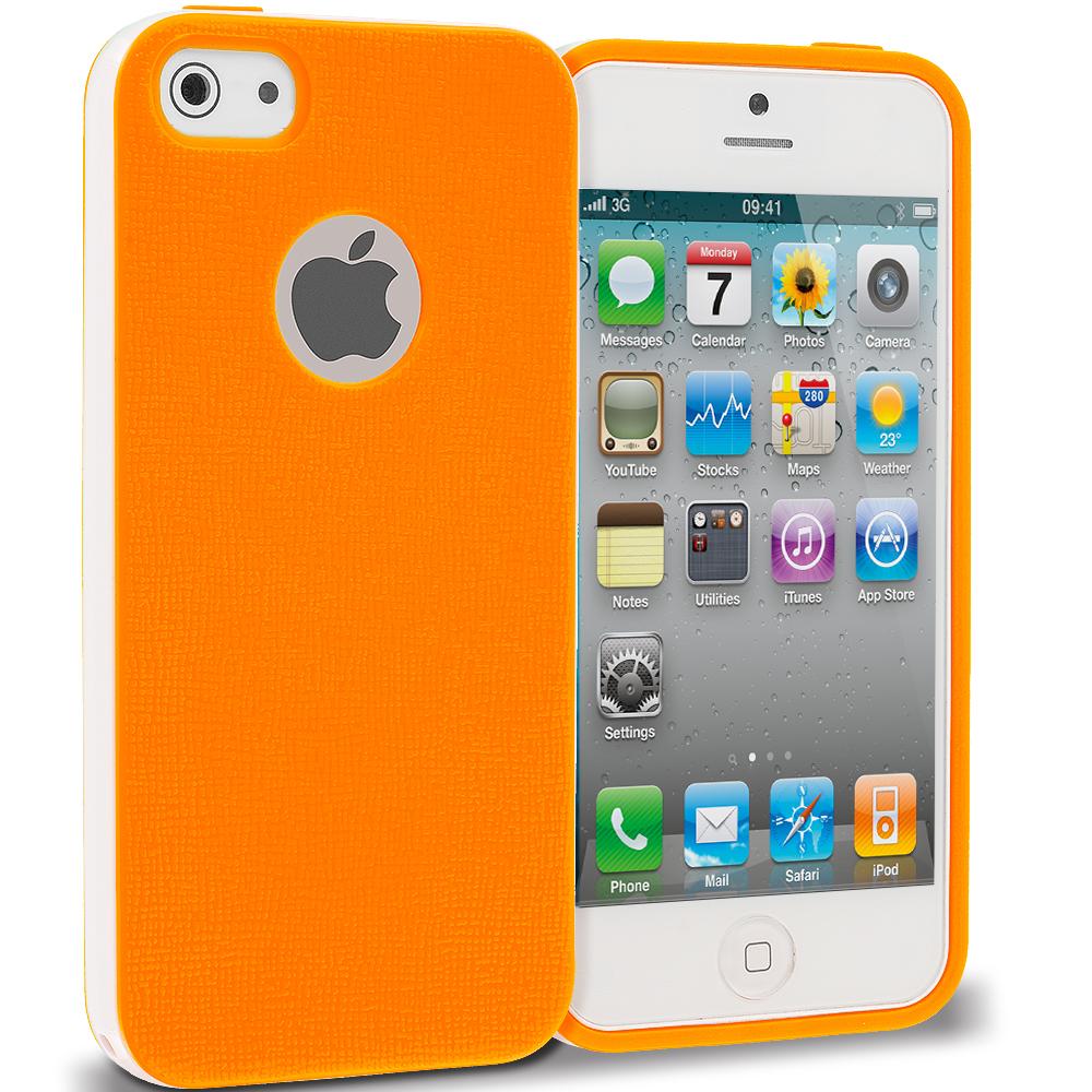 Apple iPhone 4 / 4S Orange Hybrid TPU Bumper Case Cover