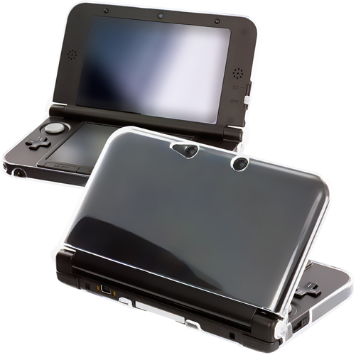 New 2015 Nintendo 3DS XL Clear Crystal Transparent Hard Case Cover