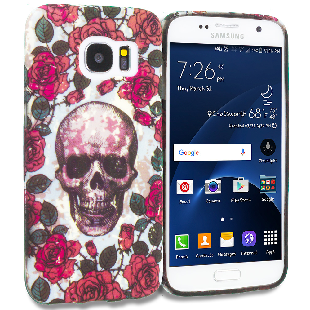Samsung Galaxy S7 Gorgeous Skull TPU Design Soft Rubber Case Cover