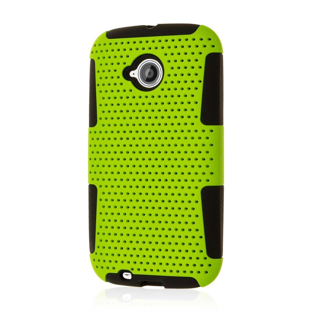 Motorola Moto E 2nd Generation - Neon Green MPERO FUSION M - Protective Case