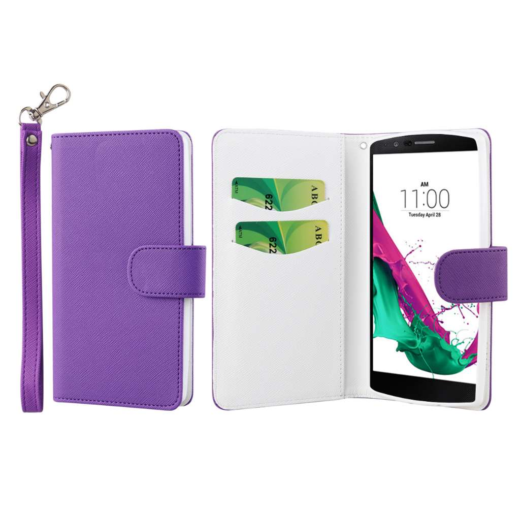 LG G4 - Purple MPERO FLEX FLIP Wallet Case Cover