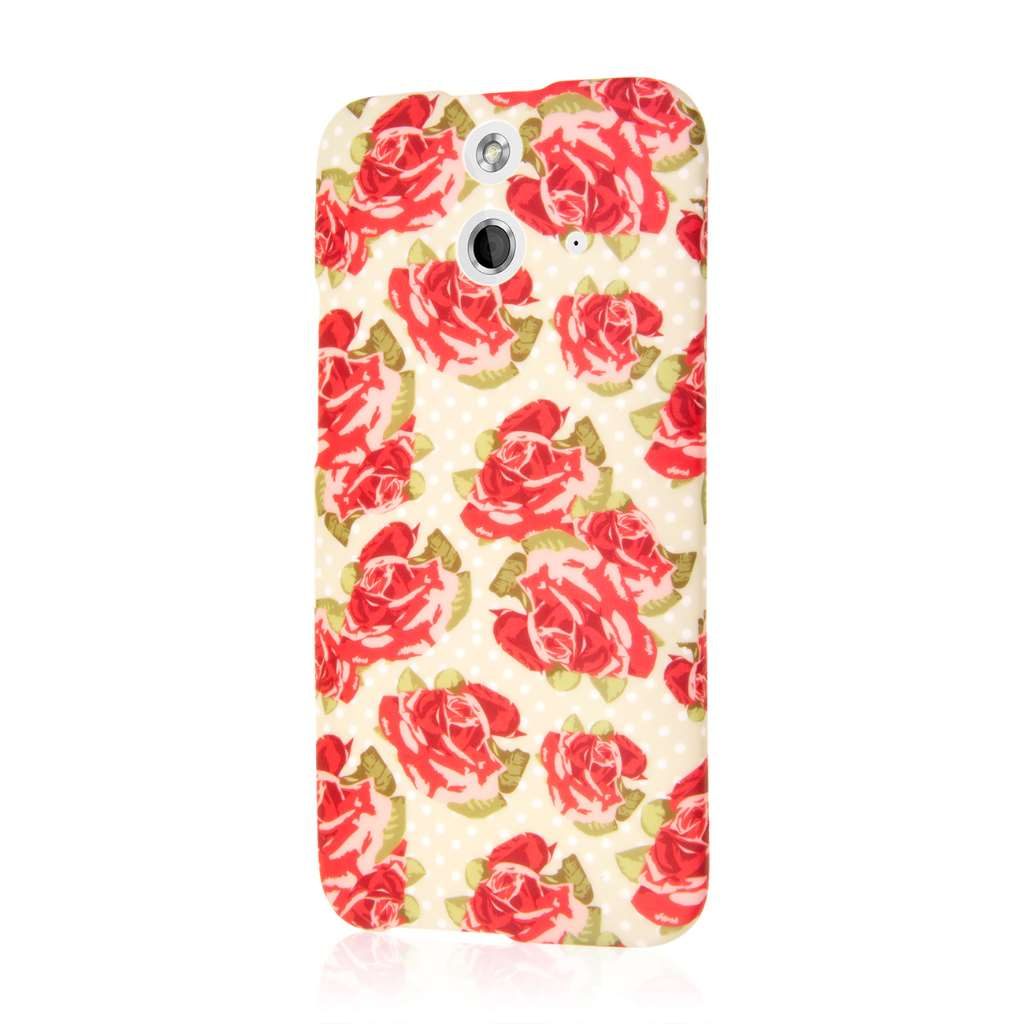 HTC One E8 - Vintage Red Roses MPERO SNAPZ - Case Cover