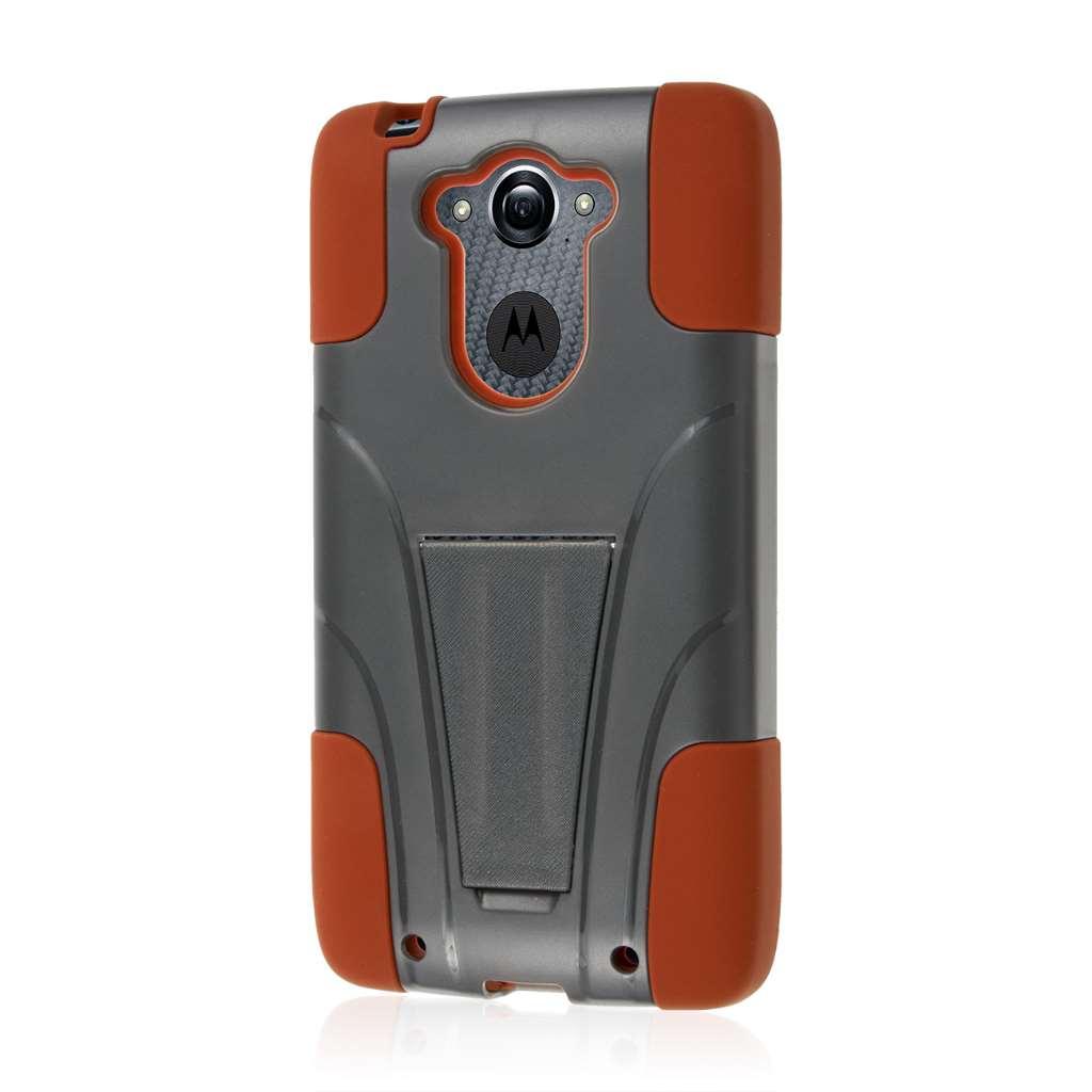 Motorola DROID TURBO - Sandstone / Gray MPERO IMPACT X - Kickstand Case