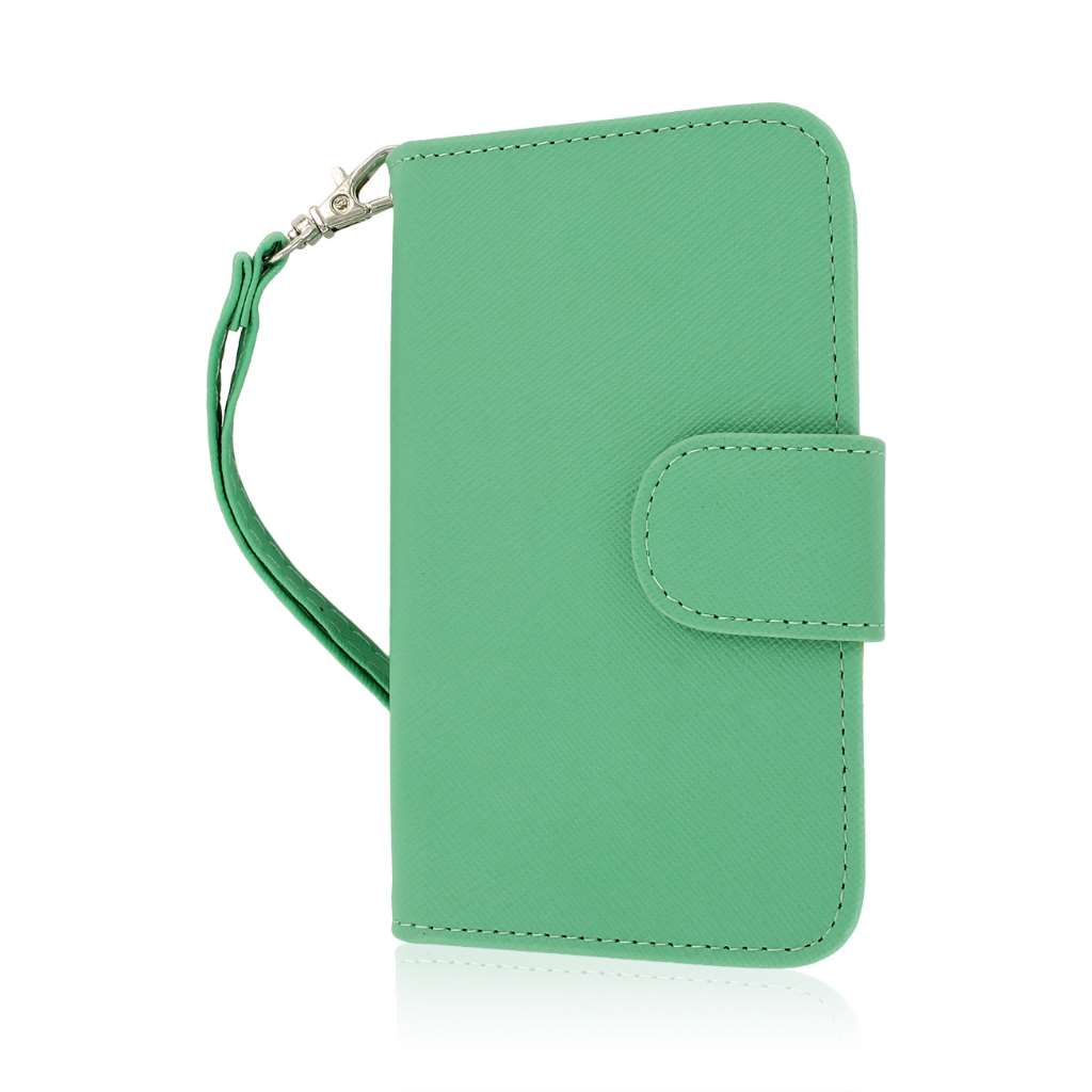 BlackBerry Q5 - Mint MPERO FLEX FLIP Wallet Case Cover