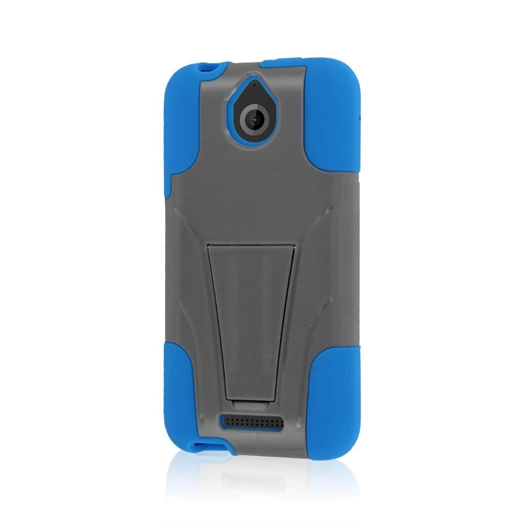 HTC Desire 510 512 - Blue / Gray MPERO IMPACT X - Kickstand Case Cover