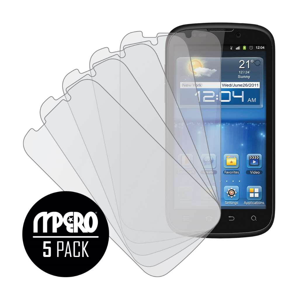 ZTE Grand X V970 MPERO 5 Pack of Matte Screen Protectors