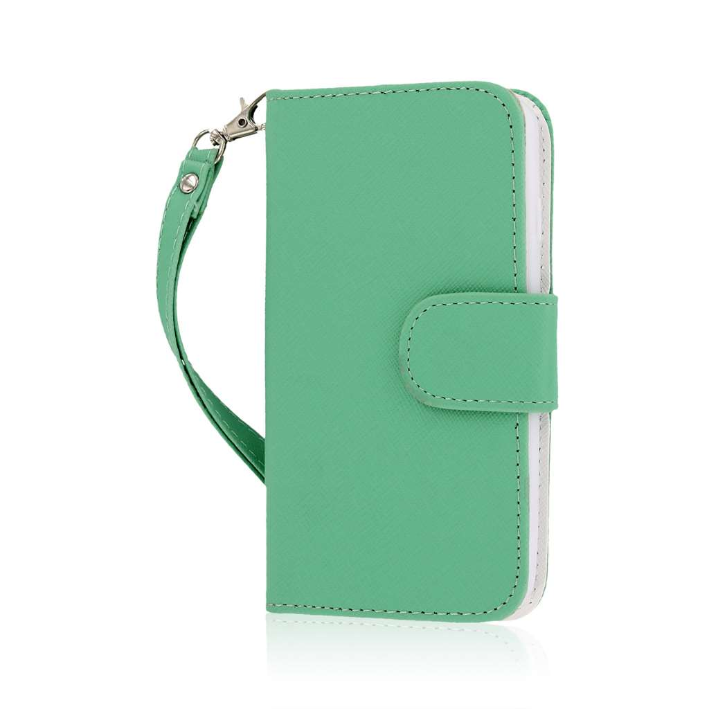 LG Lucid 3 - Mint MPERO FLEX FLIP Wallet Case Cover
