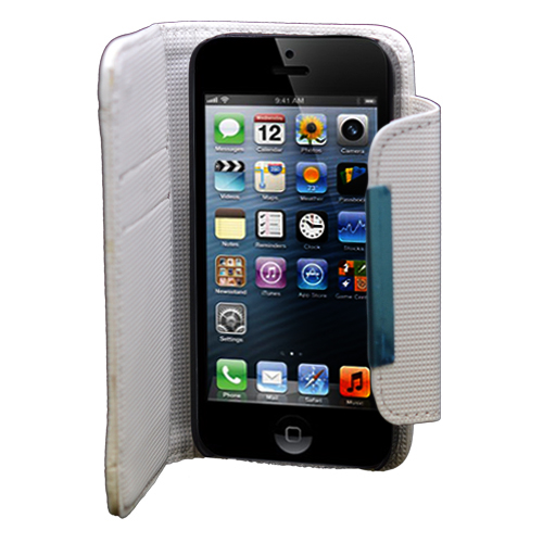 For Apple iPhone 5/5S/SE Wallet Flip Case Cover With ...